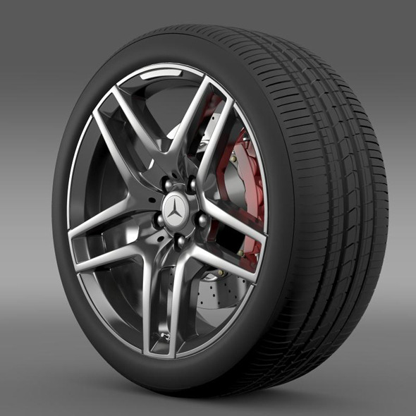 AMG Mercedes Benz S 500  wheel - 3DOcean Item for Sale
