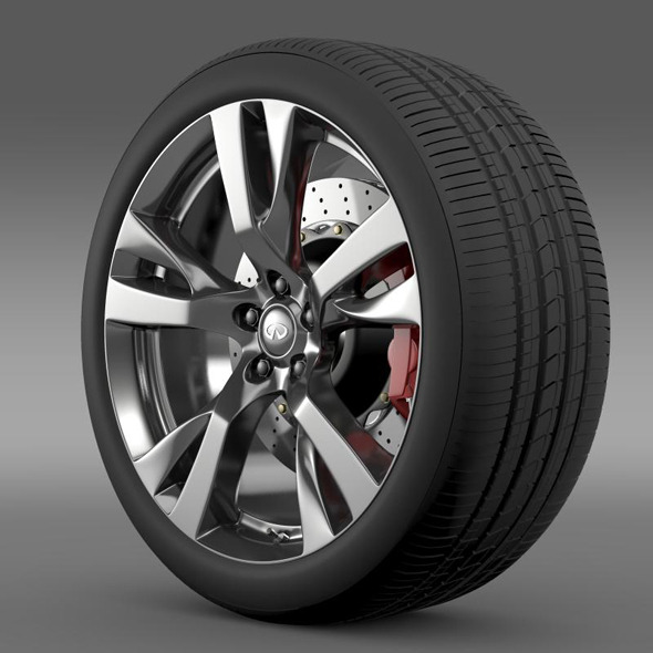 Infiniti Q70 wheel - 3DOcean Item for Sale