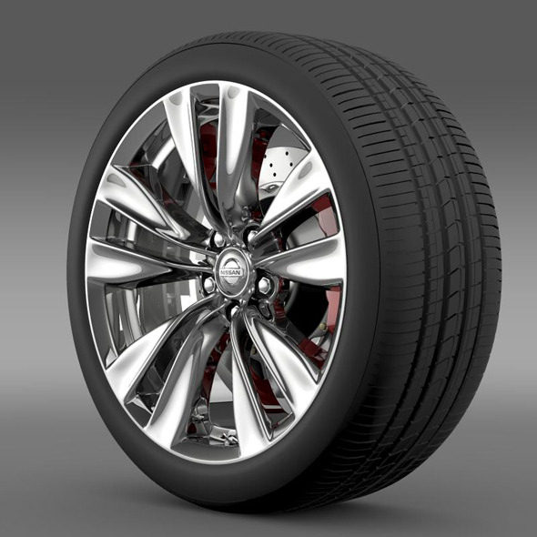 Nissan Fuga wheel - 3DOcean Item for Sale