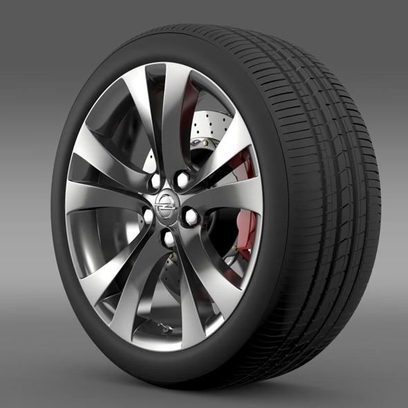 Opel Insignia wheel - 3DOcean Item for Sale