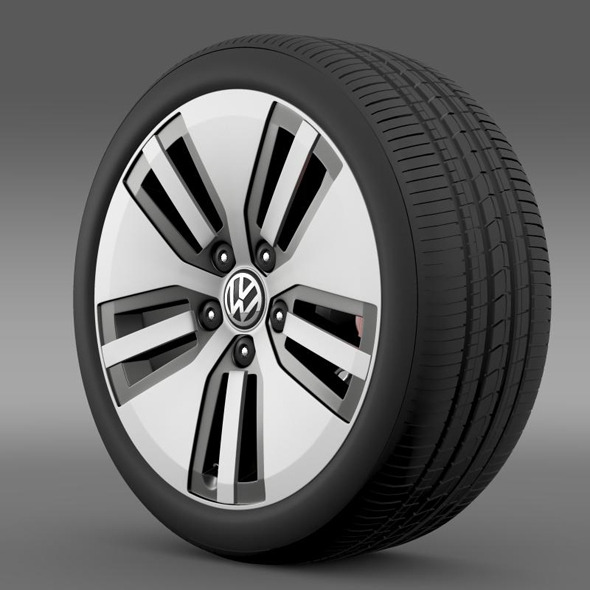 Volkswagen E Golf wheel - 3DOcean Item for Sale