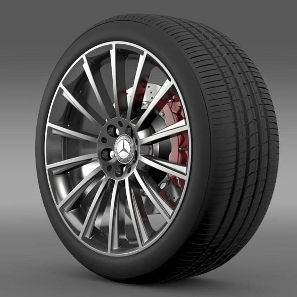 AMG Mercedes Benz S 350 wheel - 3DOcean Item for Sale
