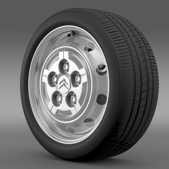 Citroen Jumper Van wheel - 3DOcean Item for Sale