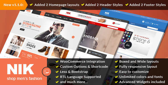 Nik – Responsive WooCommerce WordPress Theme