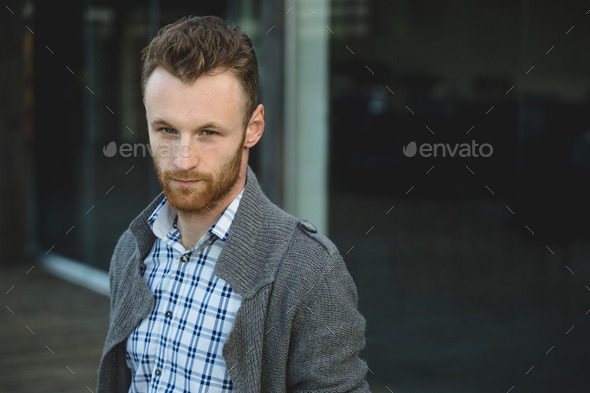 Portrait of young fashionable man - Stock Photo - Images