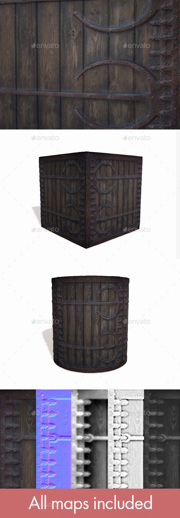 Medieval Box - 3DOcean Item for Sale