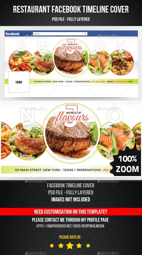 Restaurant facebook timeline cover by redpencilmedia