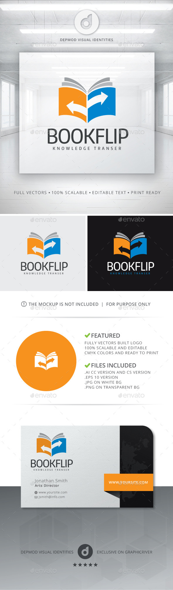 Book Flip Logo