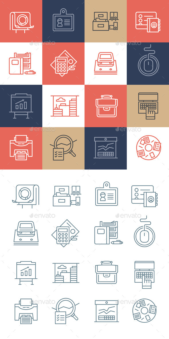 Office Life Icons Collection - Business Icons