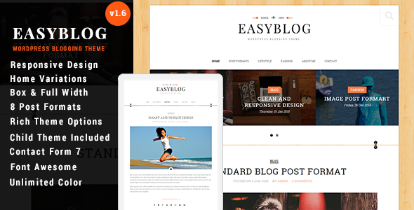 Easyblog – Responsive WordPress Blog Theme