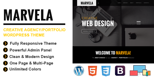 MARVELA | Agency/Portfolio Multi-Purpose WP Theme