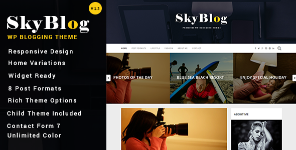 SkyBlog – Responsive WordPress Blog Theme