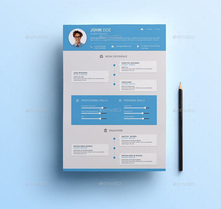 material design resume by nishow