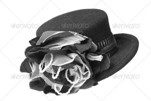 female hat isolated on white - Stock Photo - Images