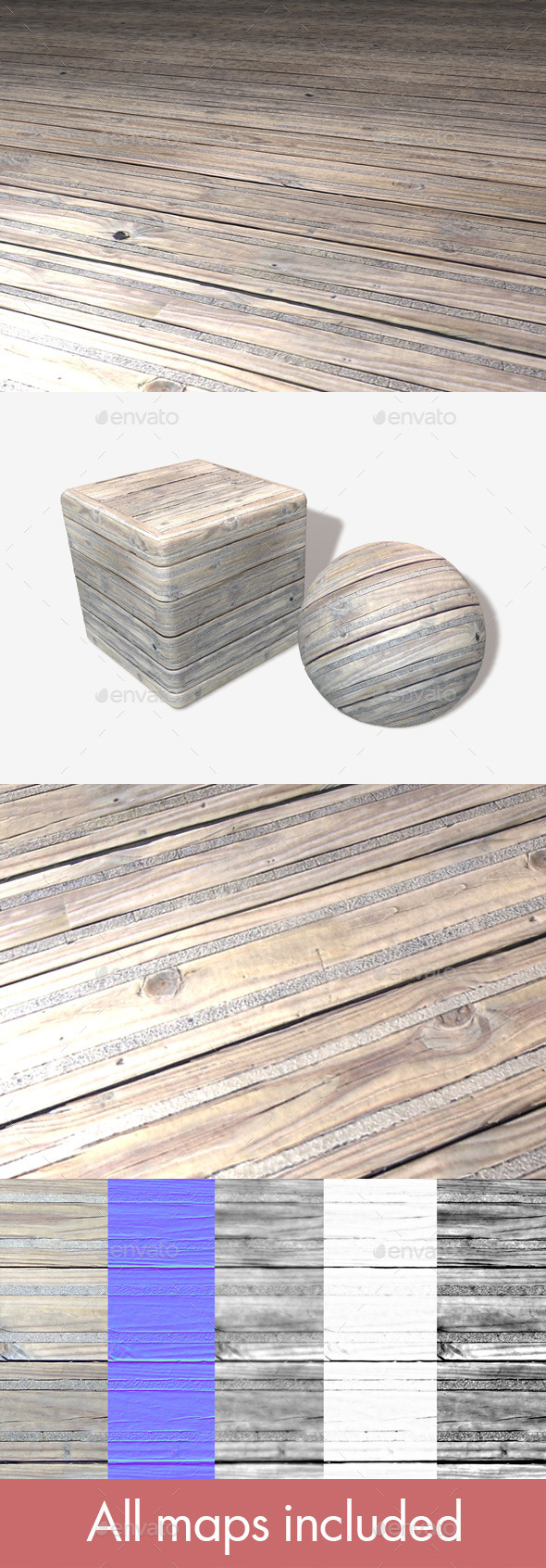 Wooden Floor Grip Panels Seamless Texture - 3DOcean Item for Sale