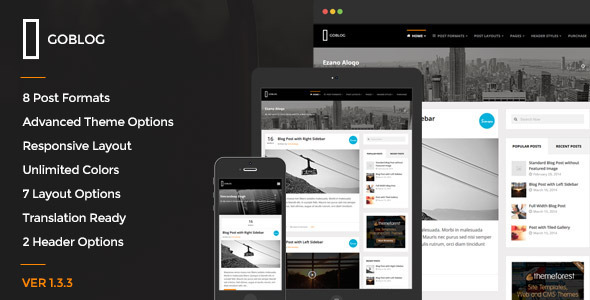 GoBlog – Responsive WordPress Blog Theme