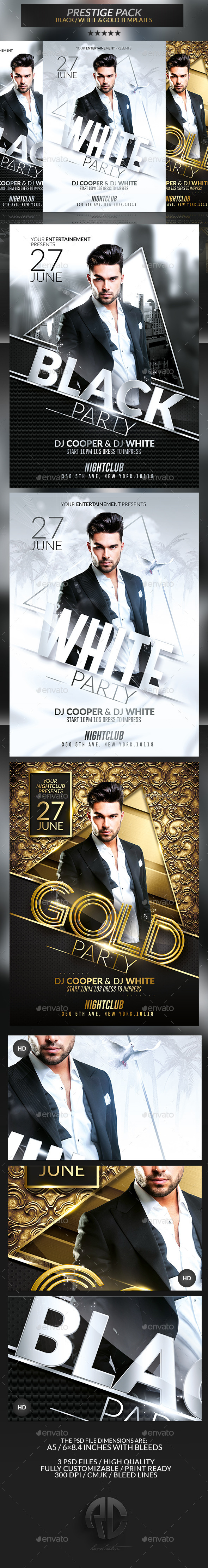 Prestige Pack | Psd Flyer Templates - Clubs & Parties Events