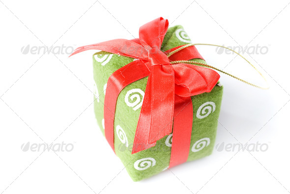 Gift isolated on white - Stock Photo - Images