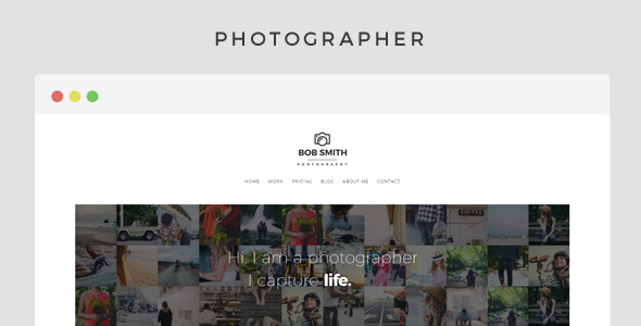 Photographer - A Template For Photographers