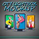 City lightbox Mockup - GraphicRiver Item for Sale