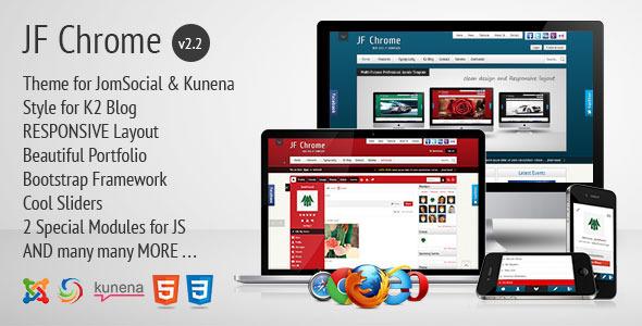 JF Chrome – Joomla Kunena JomSocial Template