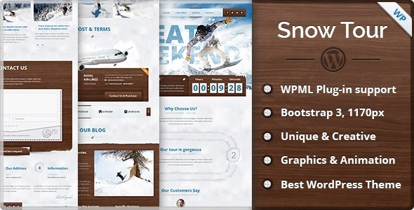 Snow Tour – WordPress Winter Travel/Tour Theme