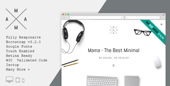 MAMA – Creative Minimal Portfolio WordPress Theme