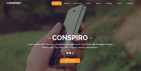 Conspiro - Multipurpose Muse Template - Creative Muse Templates