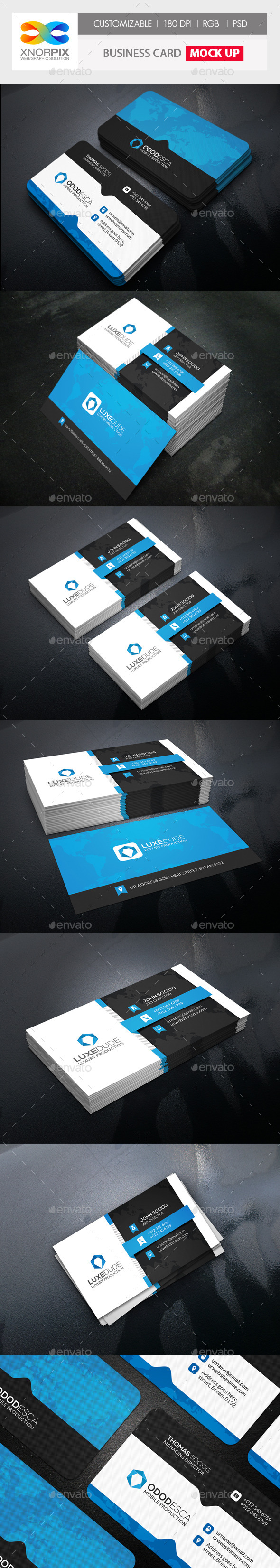 Realistic Business Card Mock up by axnorpix