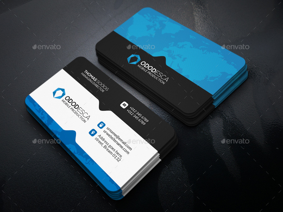Realistic Business Card Mock up by -axnorpix | GraphicRiver