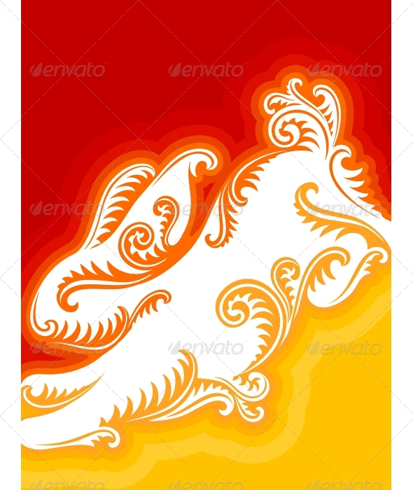 Chinese New Year vector greeting card with rabbit  - Christmas Seasons/Holidays