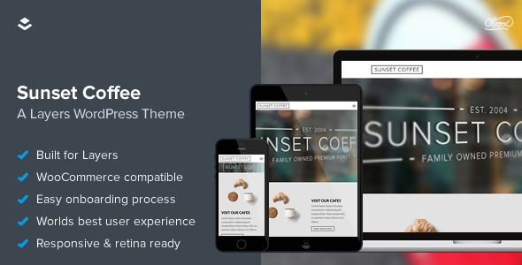 Sunset Coffee - Layers WooCommerce Theme - WooCommerce eCommerce