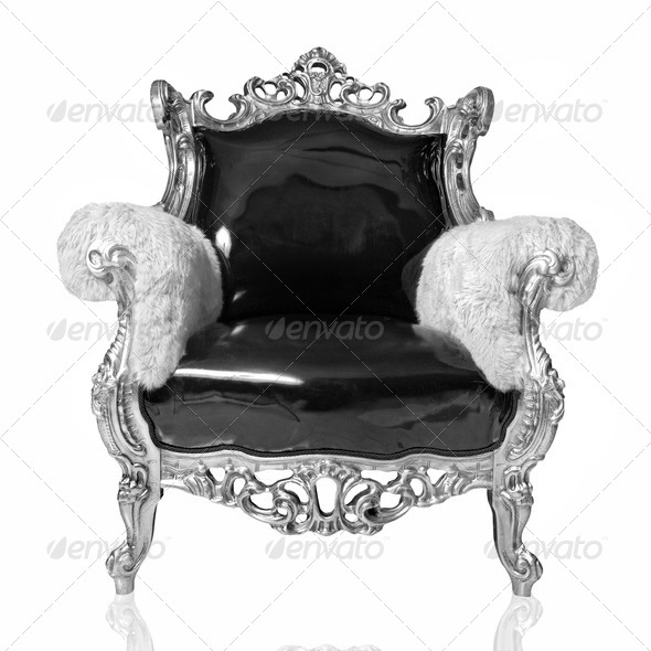 antique chair isolated on white - Stock Photo - Images