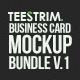 18 in 1 - Business Card Mock-up Bundle V.1 - GraphicRiver Item for Sale