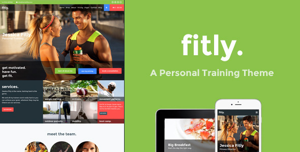 Fitly - A Personal Training WordPress Theme
