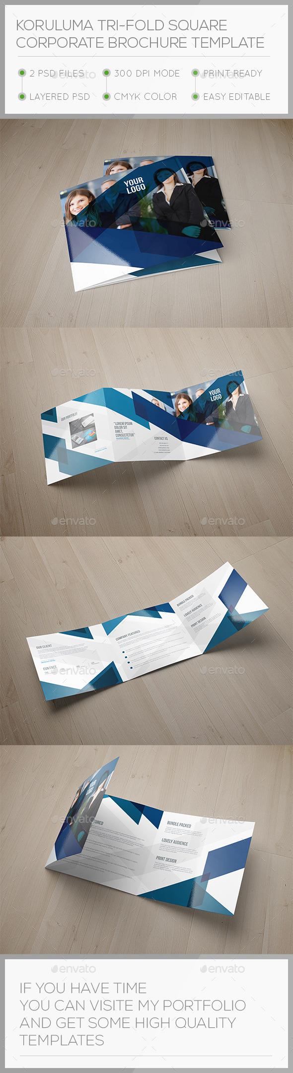Korulum Tri-fold Square Brochure Template - Brochures Print Templates
