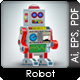 Retro robot toy 3d illustration - GraphicRiver Item for Sale