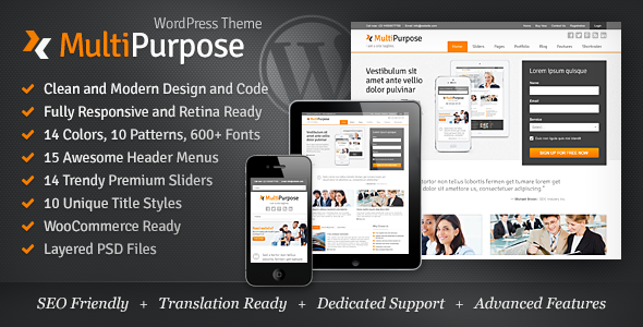MultiPurpose – Responsive WordPress Theme