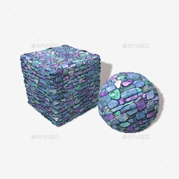 Blue Castle Wall Seamless Texture