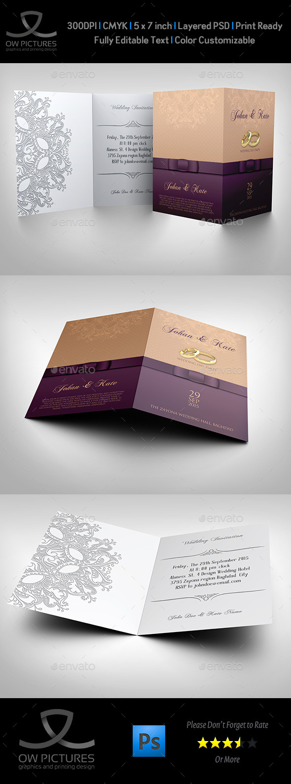 Wedding Invitation Card Template Vol.10