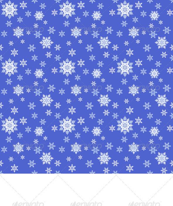 Vector Seamless Blue Christmas Ornament - Christmas Seasons/Holidays