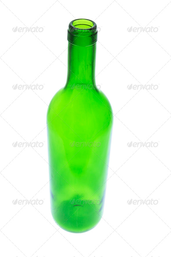 Green Glass Bottle - Stock Photo - Images