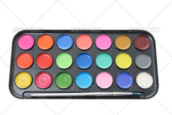 Set of Watercolors - Stock Photo - Images