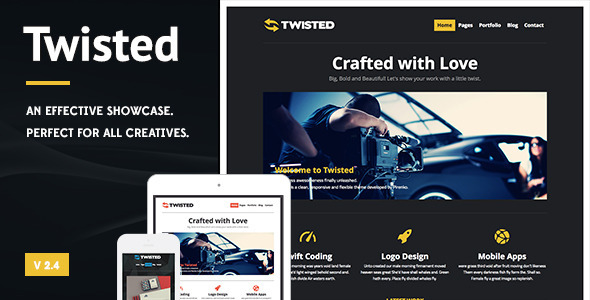 Twisted – Showcase WordPress Theme