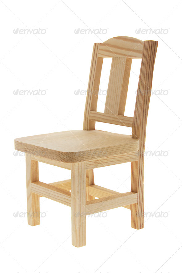 Miniature Wooden Chair - Stock Photo - Images