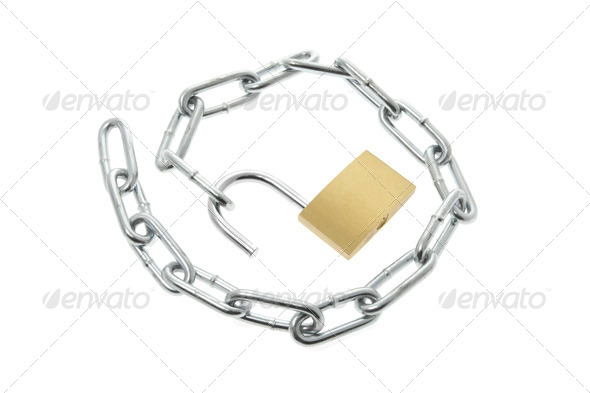 Lock with Chain - Stock Photo - Images