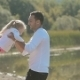 Little Blond Girl Running Toward Father And He - VideoHive Item for Sale