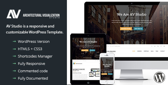 AV Studio - One Page WordPress Theme  - Portfolio Creative