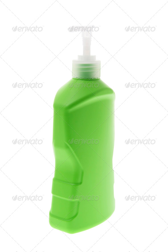 Plastic Liquid Dispenser Bottle - Stock Photo - Images