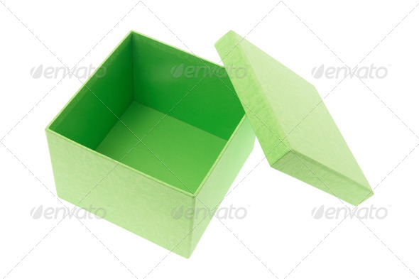 Green Box - Stock Photo - Images